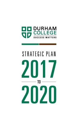 Durham university 2020 strategy