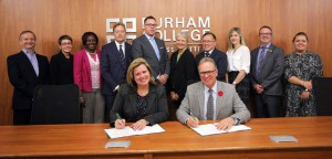 Durham College and the Durham Catholic District School Board sign a five-year academic agreement to enhance opportunities for international students looking to pursue post-secondary education in Canada.