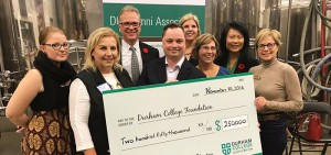 Alumni Association cheque presentation