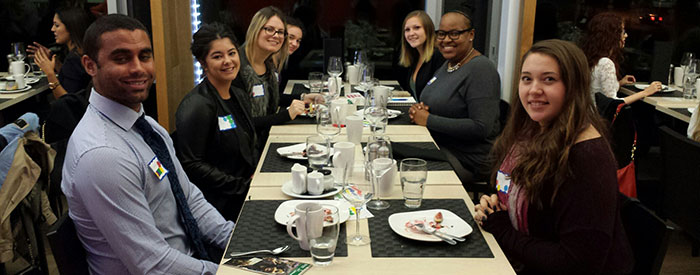 Public Relations students at 2025 fall Etiquette dinner