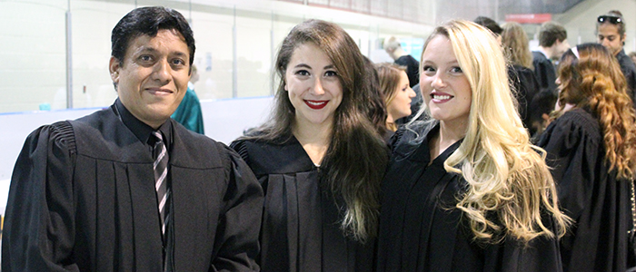 Syed Rizvi with classmates at his convocation