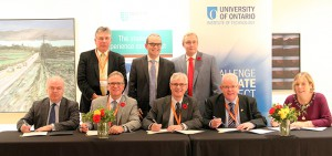 MOU signing - Durham College (DC), the University of Ontario Institute of Technology (UOIT) and the Technological University for Dublin Alliance.