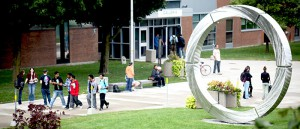An exterior shot of DC campus