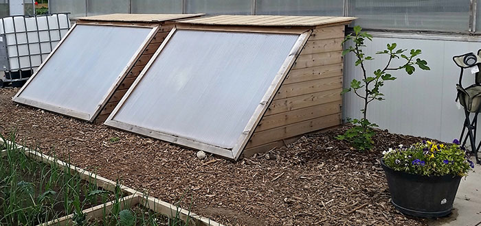 Cold frame technology at Centre For Food.