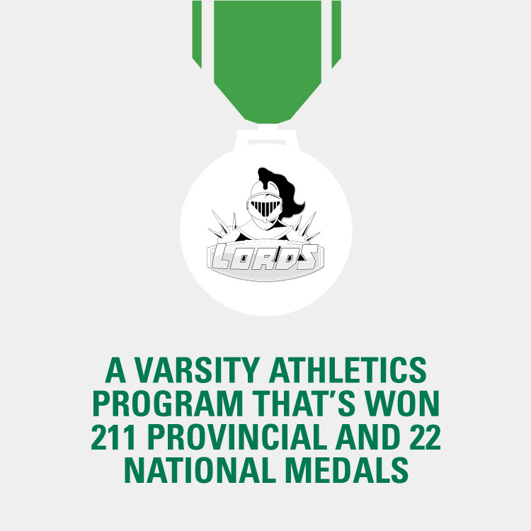 A varsity athletics program that's won 210 provincial and 22 national medals