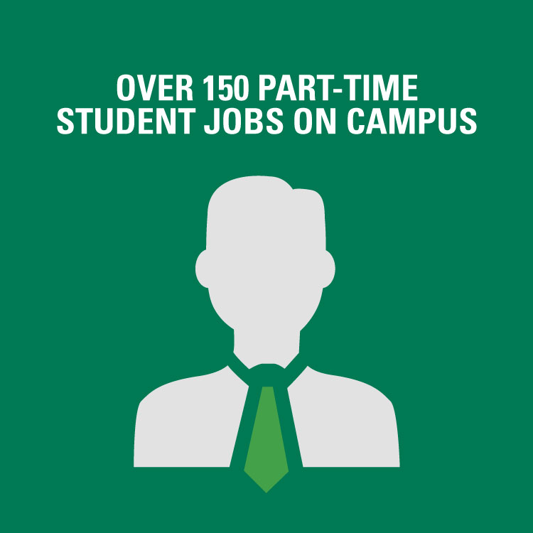Over 150 part-time student jobs on campus