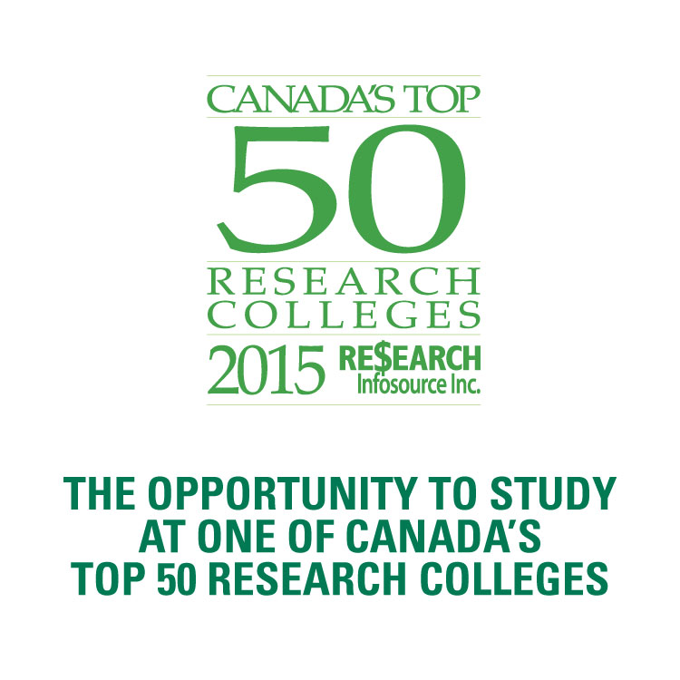 DC is one of Canada's top 50 research colleges as named by Research Inofsource Inc.