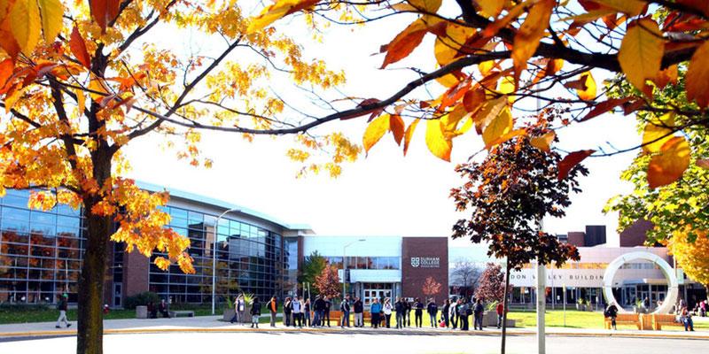 Durham College campus in fall