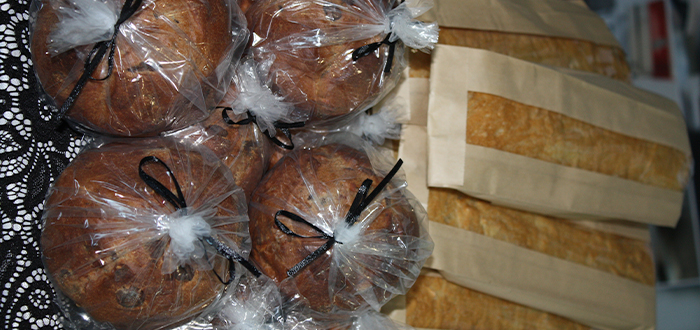 Close up shot of muffins.