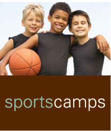 Sports camps ad: border=