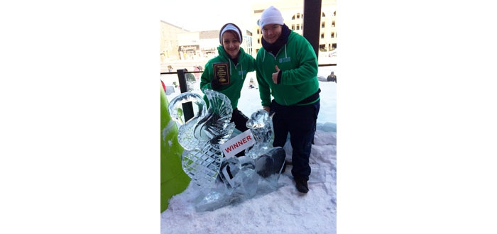DC students at the Winterloo ice carving competition