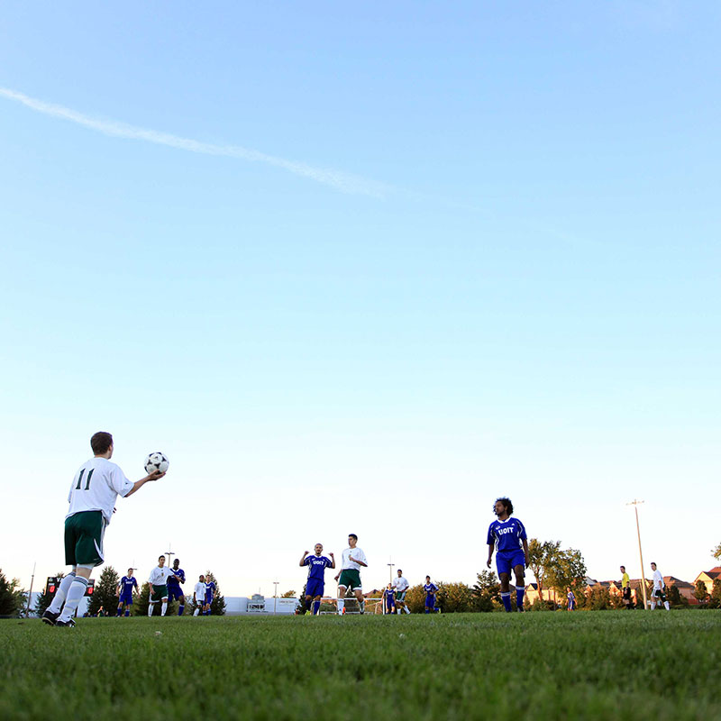 DC and UOIT soccer match for Campus Cup.