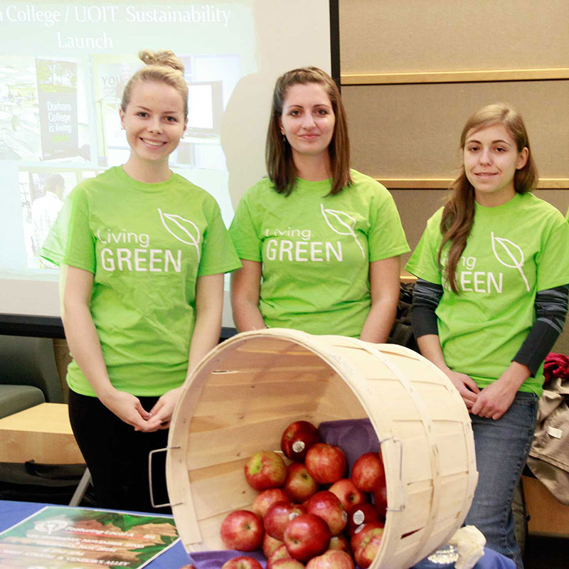 Members of the Green Team at the Oshawa campus.