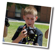 Campers in photography camp