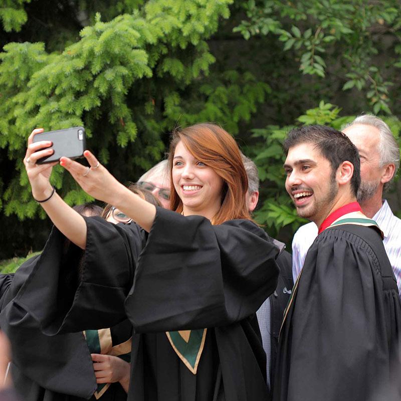 Alumni taking selfie
