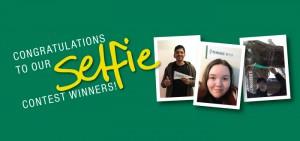 Photos of Selfie contest winners