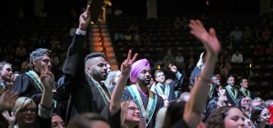 Students at 2016 spring convocation.