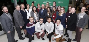 Student meeting donors at Durham College's student donor recognition ceremony.
