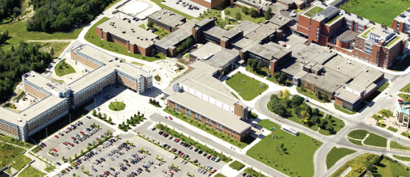 Aerial shot of Oshawa campus