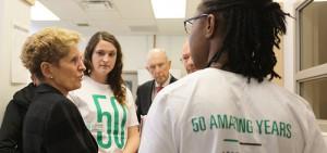 Ontario Premier Kathleen Wynne visits Durham College's Oshawa campus